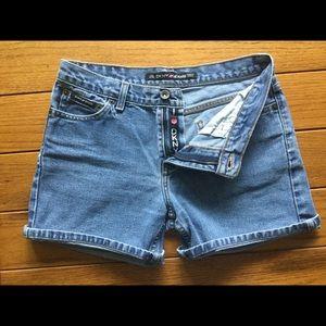 DKNY High Rise Denim Shorts
